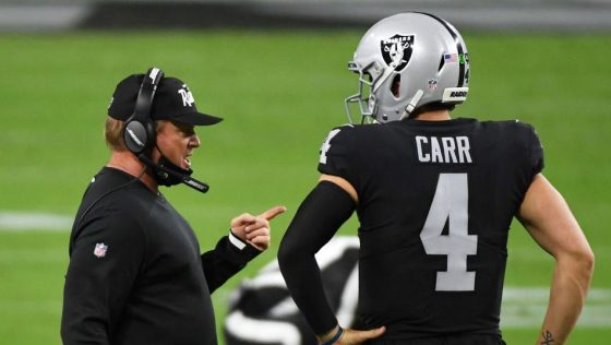 Jon Gruden: Derek Carr is a really good quarterback who's starting to play great